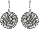 Adore Metallic Pave Disc French Wire Earrings