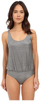 Only Hearts Metallic Jersey Tank Bodysuit