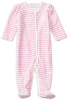 Ralph Lauren Infant Girls' Striped Velour Footie - Sizes 3-9 Months