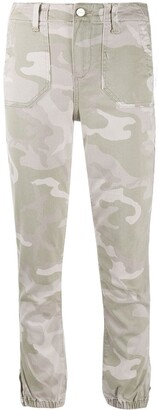 Paige Mayslie camouflage print cropped jeans