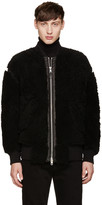 Diesel Black Gold Black Shearling Bomber Jacket