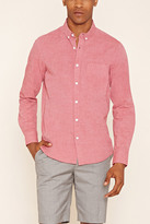 Forever 21 FOREVER 21+ Button-Collar Cotton Shirt