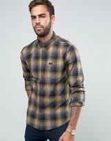 Lee Button Down Check Shirt Regular Fit Stitch Detail