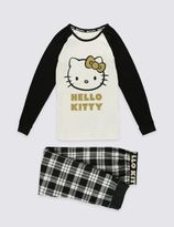 Marks and Spencer Hello Kitty Pure Cotton Checked Pyjamas (1-16 Years)