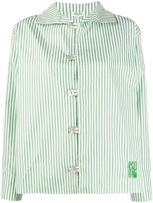 Kenzo Embroidered Logo Striped Shirt