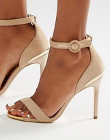 Ted Baker Suede 2 Part Heeled Sandals