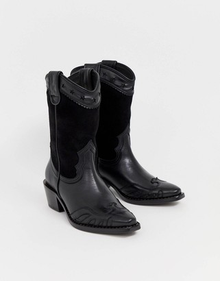 Buffalo David Bitton London Gerda western cowboy boots in black