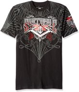 Southpole Men's Short Sleeve Hd, Screen Print Graphic Tee with Logo
