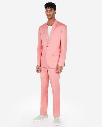 Express Slim Coral Cotton Oxford Stretch Suit Pant