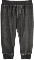Munster Lightweight Chambray Pants-BLACK