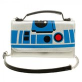 Bioworld Official Star Wars R2-D2 Inside Out Cross Body Clutch Purse Evening Shoulder Bag