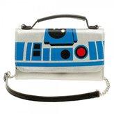 Star Wars Official R2-D2 Inside Out Cross Body Clutch Purse Evening Shoulder Bag