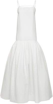Jacquemus Linen Long Dress W/Shoulder Straps