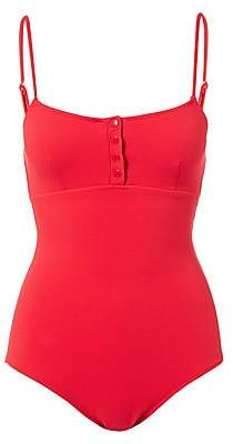 Women`s Calabasas Ribbed One-Piece Swimsuit