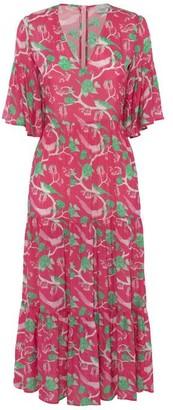 Primrose Park Alice Dress Glorious Birds - XS / Pink