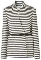LK Bennett Cora Black Cotton Mix Jacket