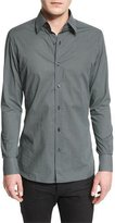 Tom Ford Micro Dot-Print Sport Shirt, Black
