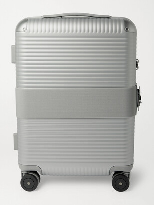 FPM Milano Bank Spinner 55cm Leather-Trimmed Polycarbonate Carry-On Suitcase - Men - Gray