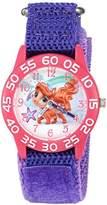 Disney Girl's 'Palace Pet' Quartz Plastic and Nylon Watch, Color:Purple (Model: W002846)