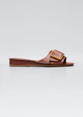 Rodo 20mm Buckle Wedge Slide Sandals