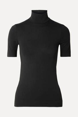 Wolford Net Sustain Aurora Modal-blend Jersey Turtleneck Top - Black