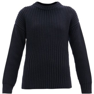 Jil Sander Ribbed Wool Sweater - Navy