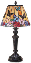 Dale Tiffany Butterfly and Peony Tiffany Table Lamp