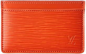 Louis Vuitton Orange Epi Leather Card Holder
