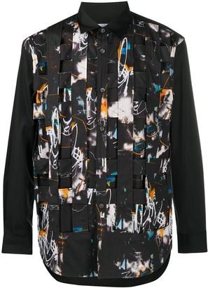 Comme des Garçons Shirt x Futura abstract-print woven panel shirt