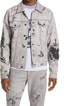Off-White Pivot Tie Dye Denim Jacket