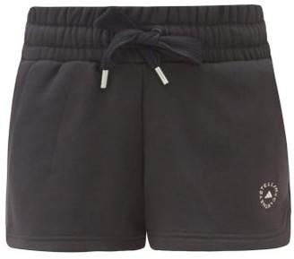 adidas by Stella McCartney Logo-print Cotton-blend Jersey Performance Shorts - Black