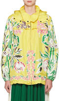 Valentino Floral-Embroidered Parka Coat