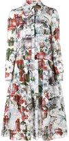 Erdem floral printed shirt dress