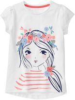 Gymboree Flowery Girl Tee