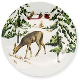 Vintage Holiday Plates, Set of 4, Deer