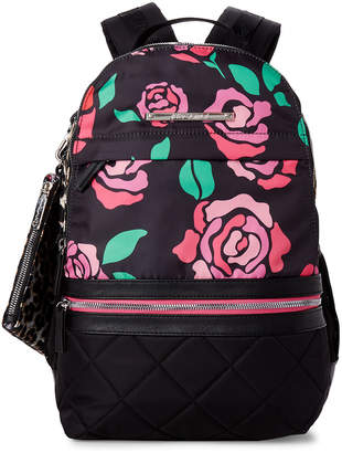 Betsey Johnson Floral Printed Nylon Backpack