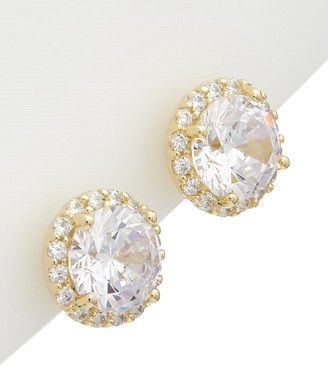 Alanna Bess Limited Collection 14K Over Silver Cz Stud Earrings