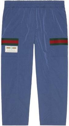 Gucci Children's nylon pant with Web