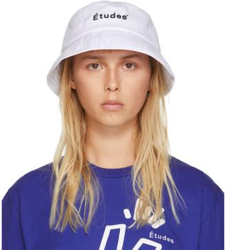 Études SSENSE Exclusive White Training Bucket Hat