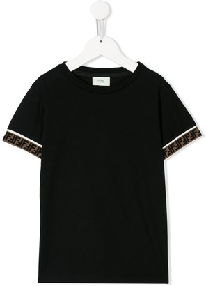 Fendi Kids Double F trim T-shirt