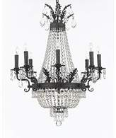 clear Ginnie 12 - Light Candle Style Empire Chandelier with Crystal Accents Rosdorf Park Crystal Color