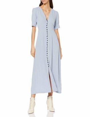 Lost Ink Women's Maxi Dress with Button Through Skirt