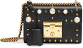 Gucci Padlock studded leather shoulder bag - women - Leather/Brass - One Size