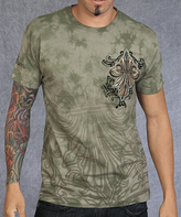 Rebel Spirit Mint & Gold 'Rebel Spirit' Fleur-de-Lis Tee - Men's Regular