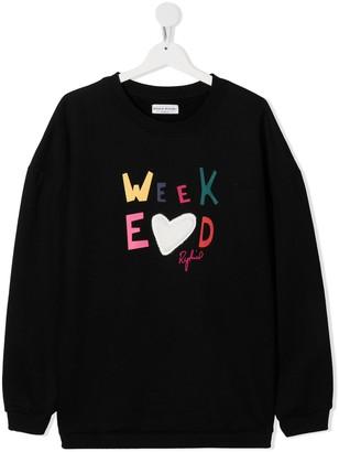 Sonia Rykiel Enfant TEEN Weekend print sweatshirt