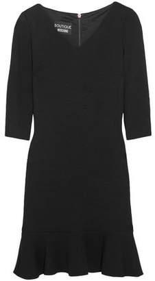 Moschino Fluted Cloque-knit Mini Dress