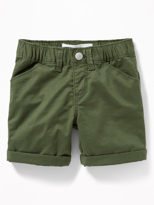 Old Navy Cuffed Twill Bermudas for Toddler Girls
