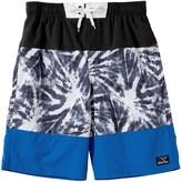 Big Chill Tie-Dye Swim Trunks - UPF 50 (For Little Boys)