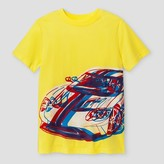 Cat & Jack Boys' Car Graphic Short Sleeve T-Shirt - Cat & Jack Yellow