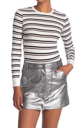 Frame 70s Stripe Print Long Sleeve Sweater